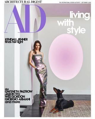 Kendall Jenner Shows Off Her $750,000 James Turrell Sculpture on the Cover of Architectural Digest (But She Hung It Sideways)