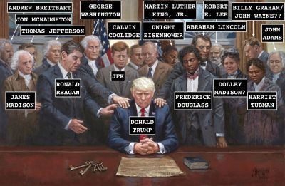What Painter Jon McNaughton's New Patriotric-Religious Fantasia of Donald Trump Actually Means